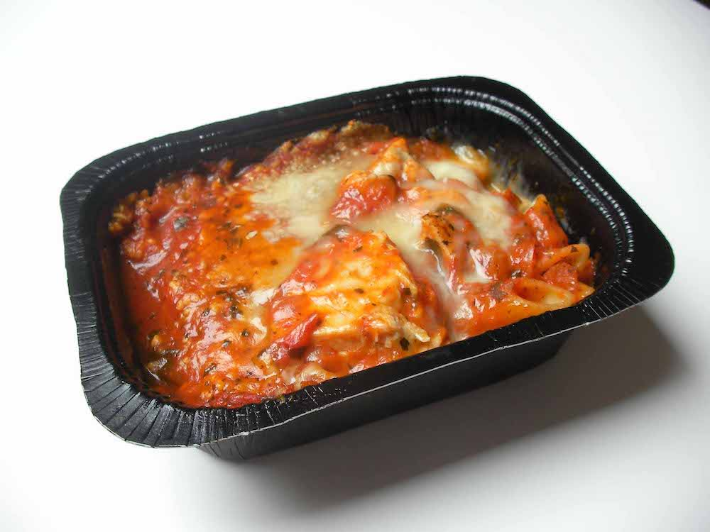 a picture of a container of a pasta and cheese ready meal