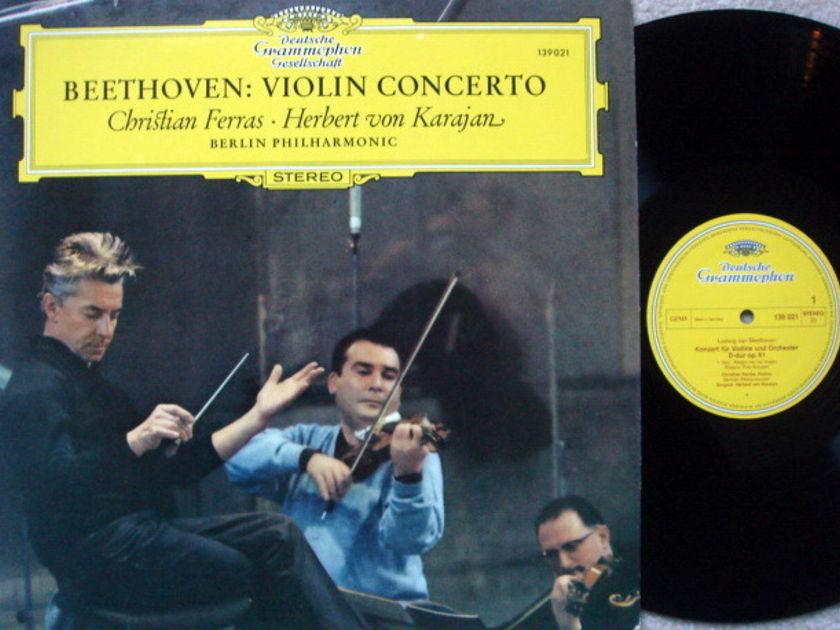 DGG / FERRAS-KARAJAN, - Beethoven Violin Concerto, MINT!