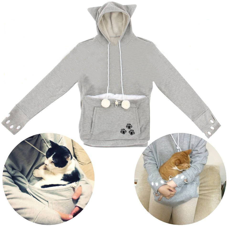 pet carrier hoodie, cat pouch hoodie, pet pouch shirt