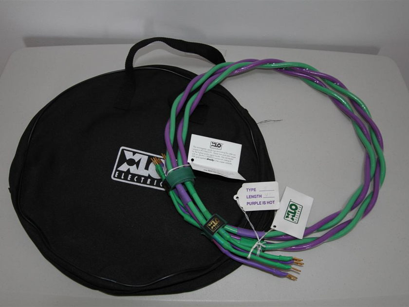 XLO Ref 5 speaker cable,  with bag, 4 feet, spades NEW! UNUSED!