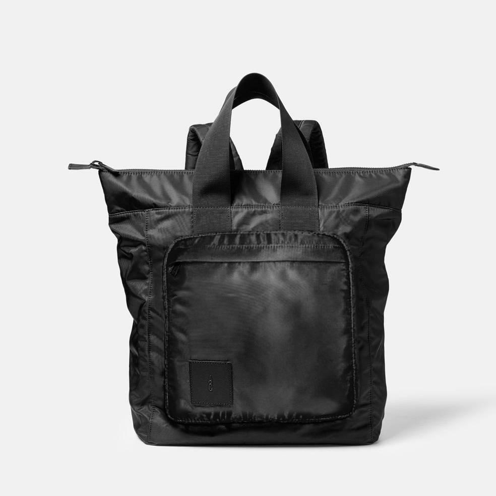 Birdie Nylon Rucksack Bag in Black