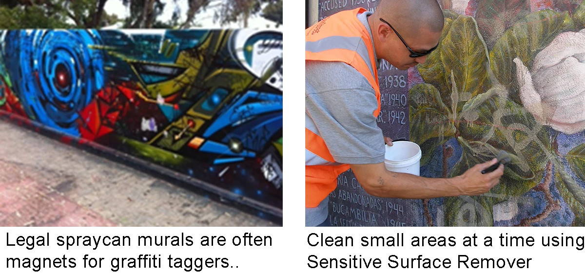 remove graffiti from murals