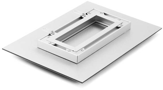Dibond and aluminum sub-frame