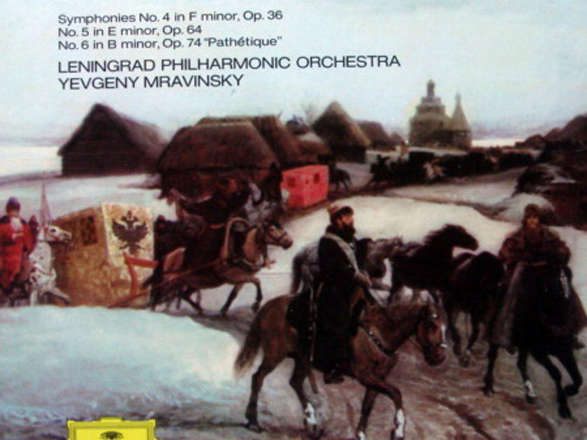 DG / Tchaikovsky Symphony No.4~6, - MRAVINSKY/LPO, MINT, 4LP Box Set!