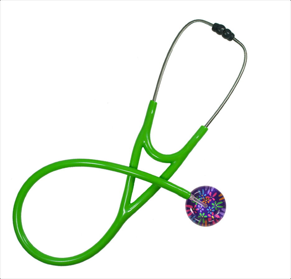 green customizable stethoscopes