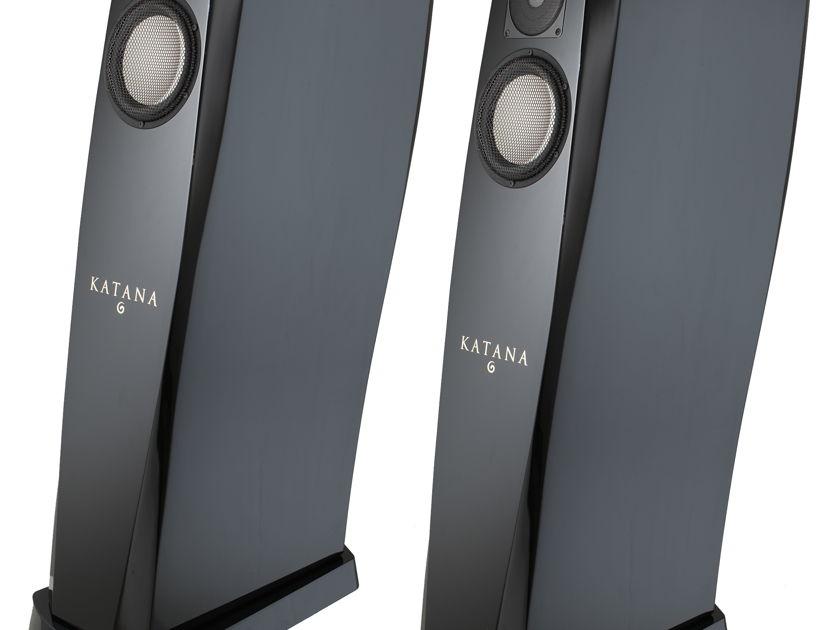 GEMME AUDIO VFlex Katana 2.0 Speakers (Piano Black) – Excellent Condition; 1 yr. Warranty; 70% Off