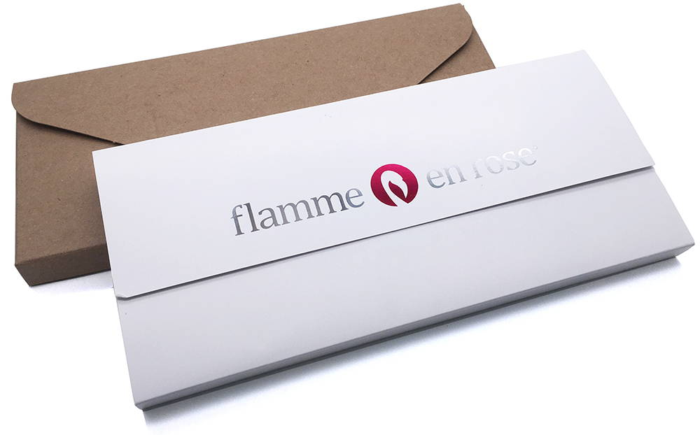 Boîte de livraison Flamme en rose