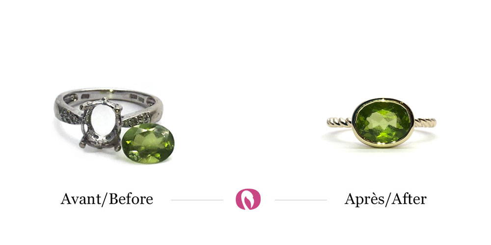 Transformation of a ring with a peridot