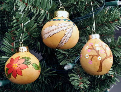 Gourd Ornaments for the Holidays