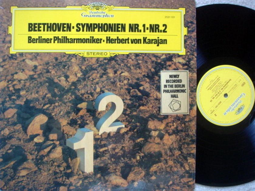 DG / Beethoven Symphony No.1 & 2, - KARAJAN/BPO, MINT!