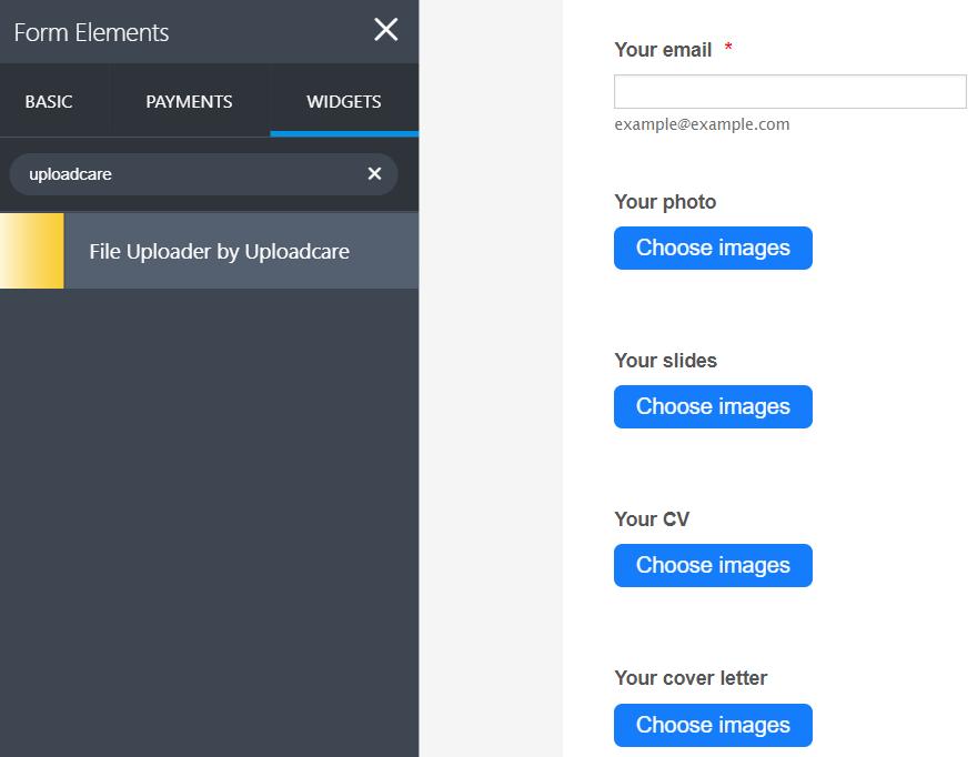 Multiple Uploadcare File Uploaders in JotForm