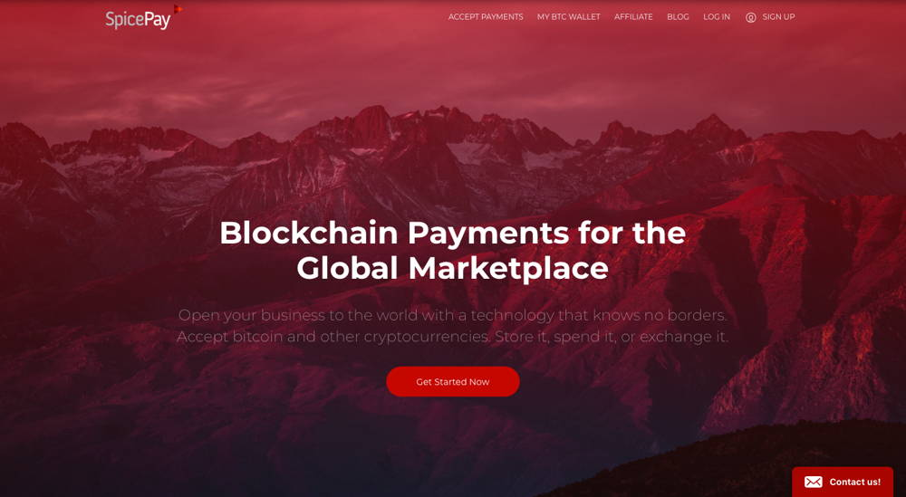 Spice Pay - the crypto payment processor