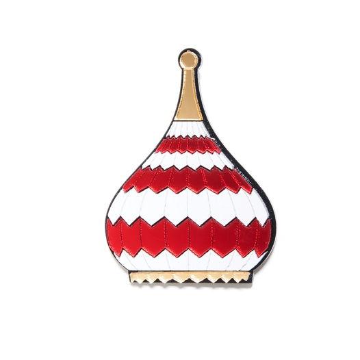 """Брошь """"Красный купол"""""""