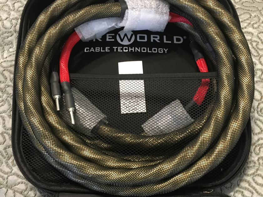 Wireworld  Gold Eclipse 7 speaker cables BNIB, 9 foot pair