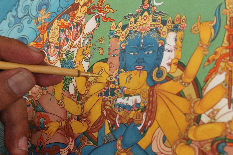 Thangka Painting at Norbulingka