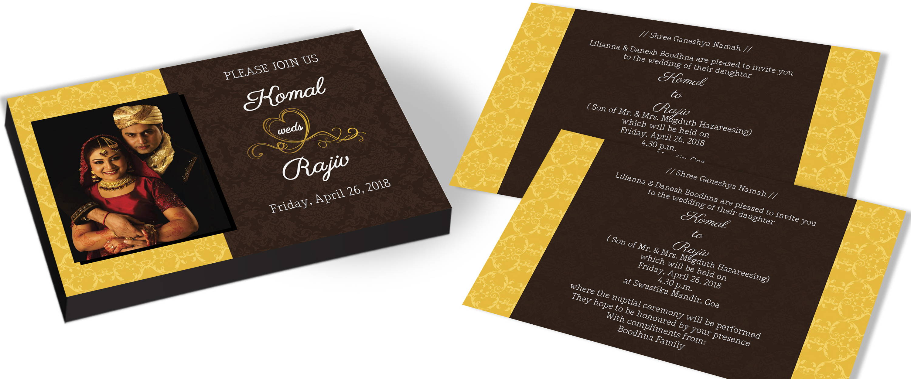 Personlised photo Wedding invitation for Vintage theme