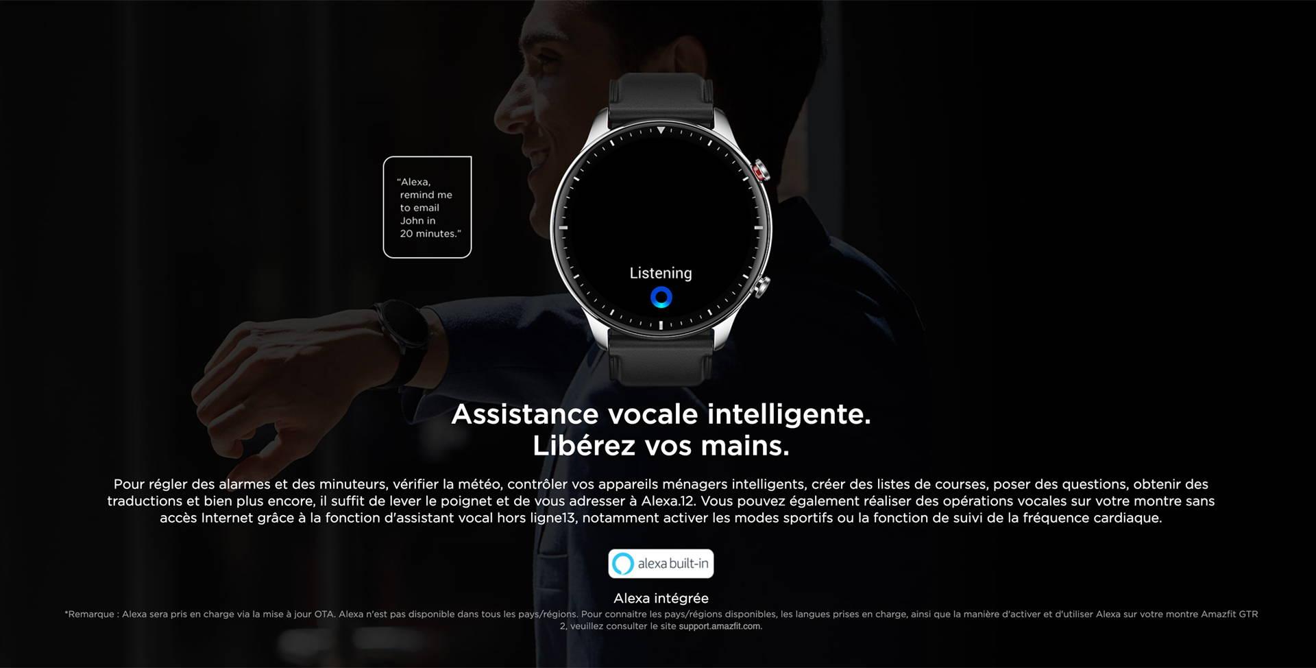 Amazfit GTR 2 - Fonctionnalité d'appel Bluetooth.Votre montre est aussi comme un téléphone.
