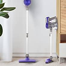 Aposen Cordless Vacuum 4 in 1 Vacuum Cleaner with adjustable height