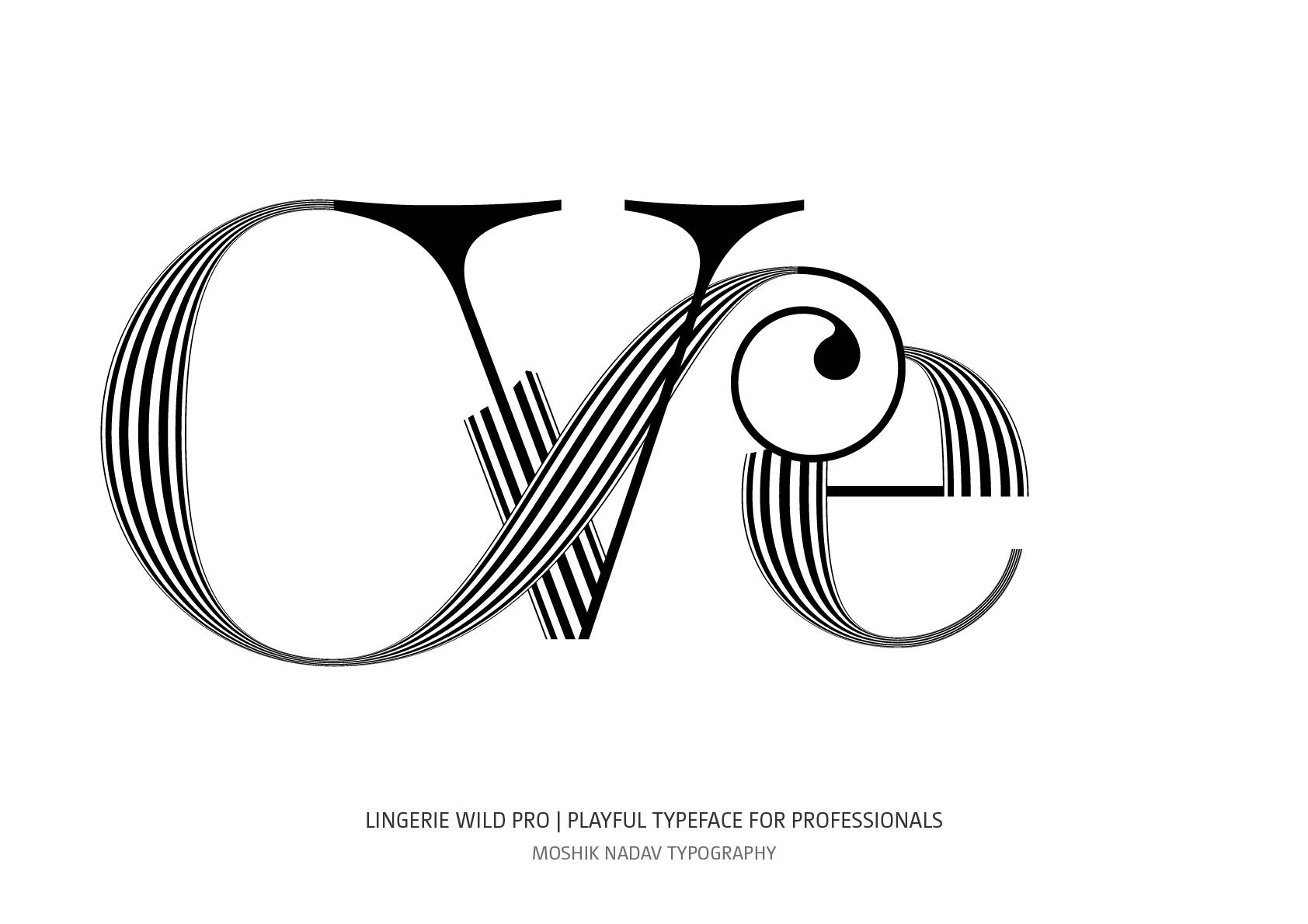 Ve ligature by Moshik Nadav Fashion Typography