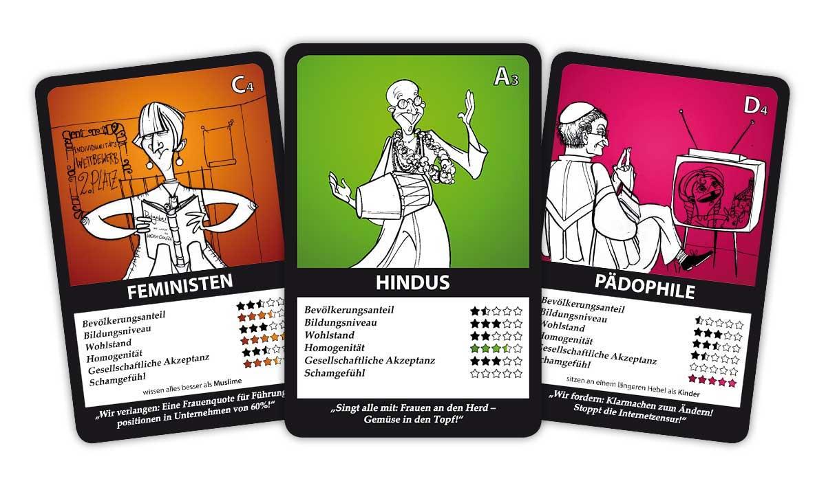 Minderheiten-Quartett 1 Karten