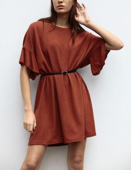 Платье-туника из итальянского трикотажа с шелком