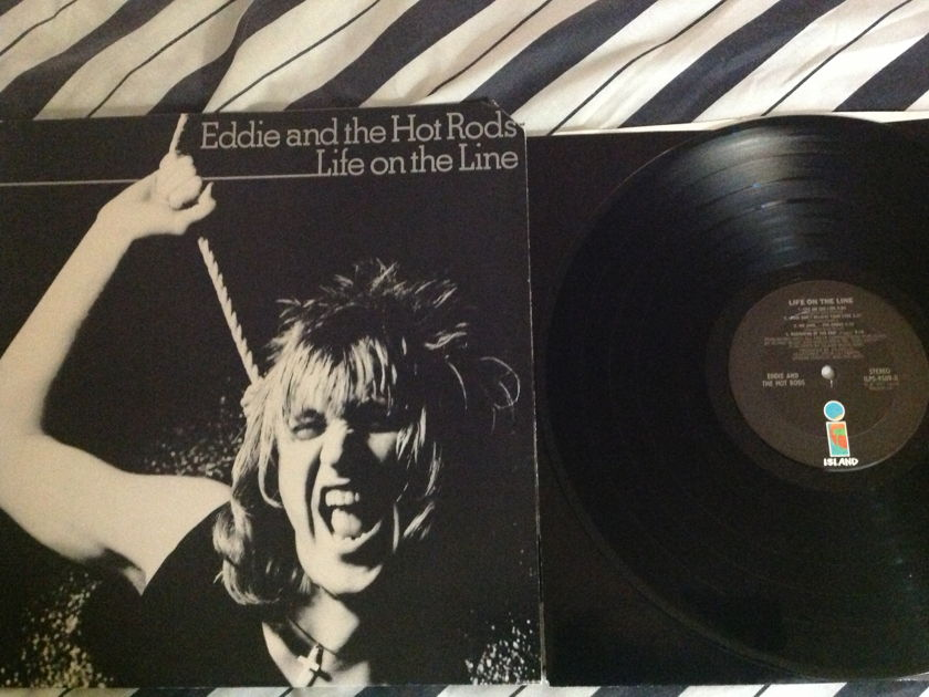 Eddie And The Hot Rods - Life On The Line LP NM Island Label