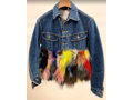 'Classic Lee' Denim Jacket with Patchwork Fox Fur
