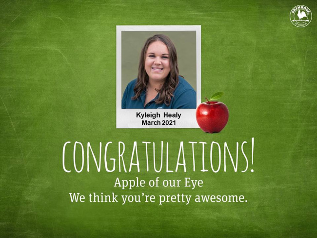kyleigh healy march apple of our eye