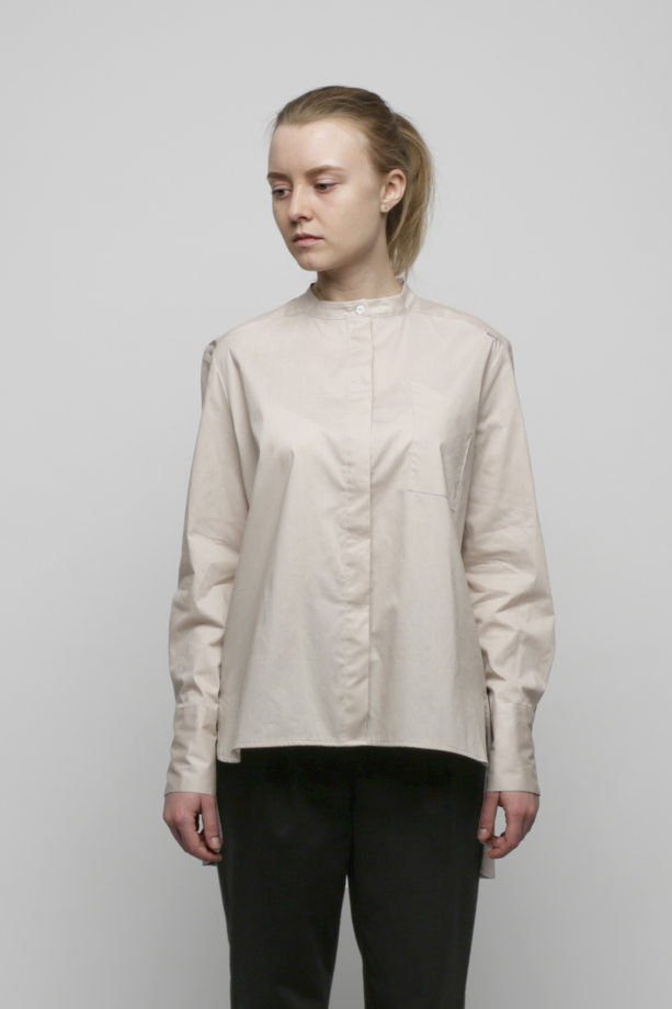 Бежевая рубашка из хлопка