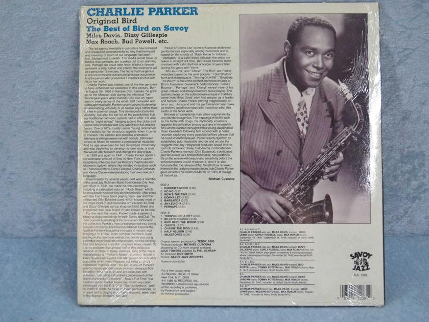 """CHARLIE PARKER - """"Original Bird - The Best of Bird on Savoy"""" reissue LP/Vinyl"""