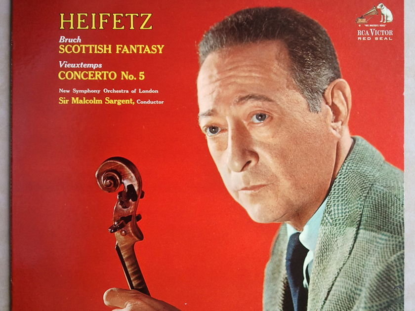 RCA White Dog | HEIFETZ/BRUCH - Scottish Fantasy / VIEUXTEMPS Concerto No. 5 / EX
