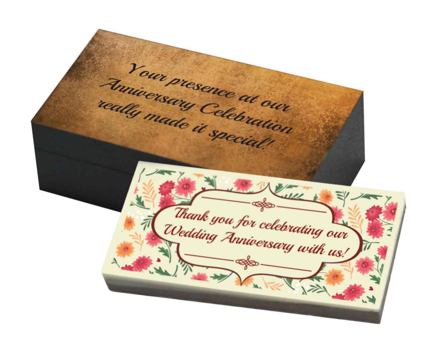 Return Gifts For 25th Wedding Anniversary: Customized Chocolate Bar For Wedding Anniversary Return