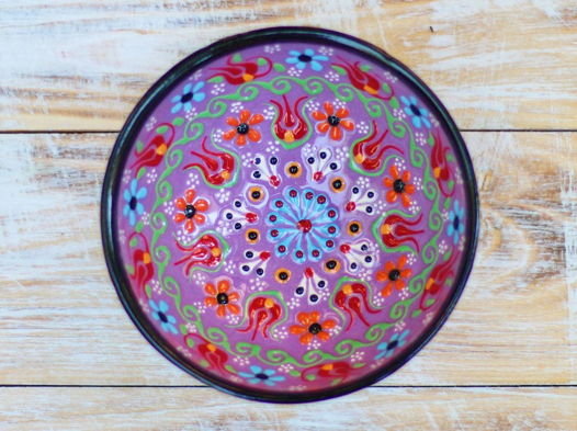Маленькая керамическая пиала (фиолетовая)