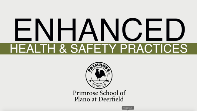 Student & Staff Health Safety at Primrose School of Plano at Deerfield