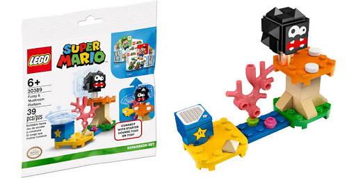 Lego super Mario fuzzy and mushroom platform