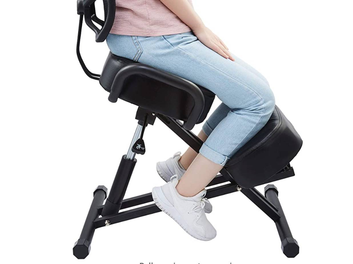 kneeling chair with back support
