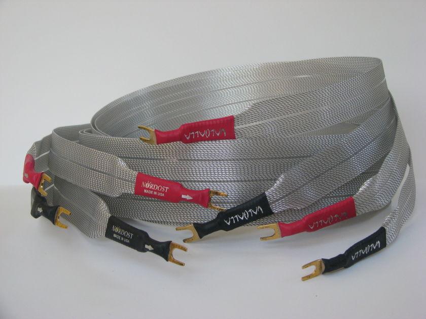 Nordost Valhalla Reference Speaker Pair of 2 Meter Shotgun Spade Cables