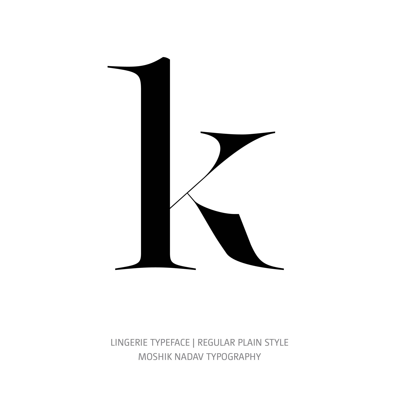 Lingerie Typeface Regular Plain k