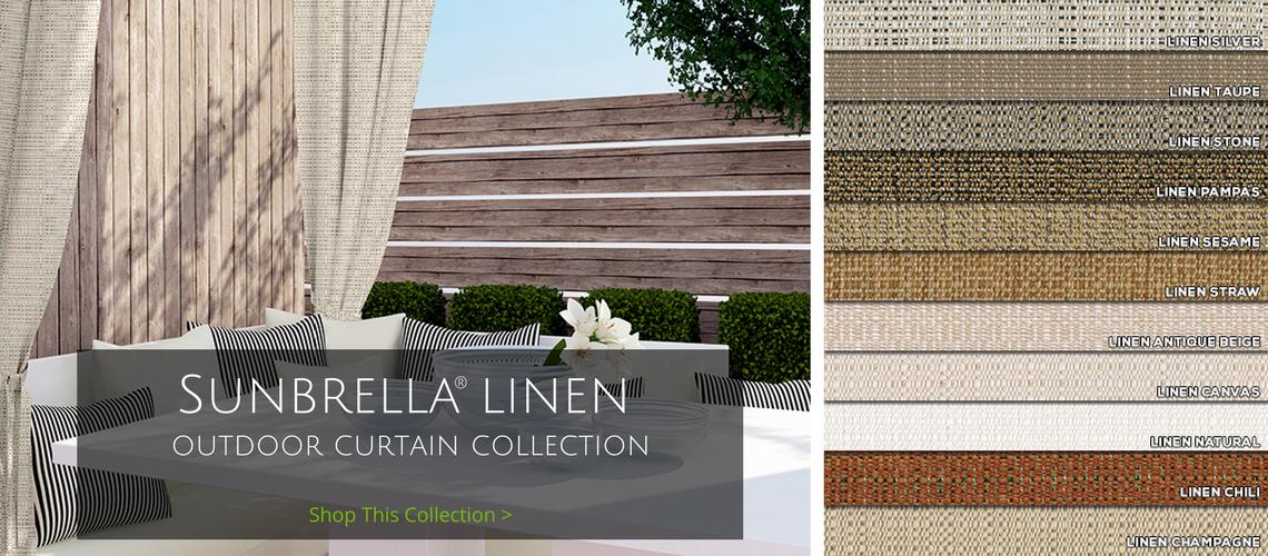 sunbrella linen outdoor curtain collection