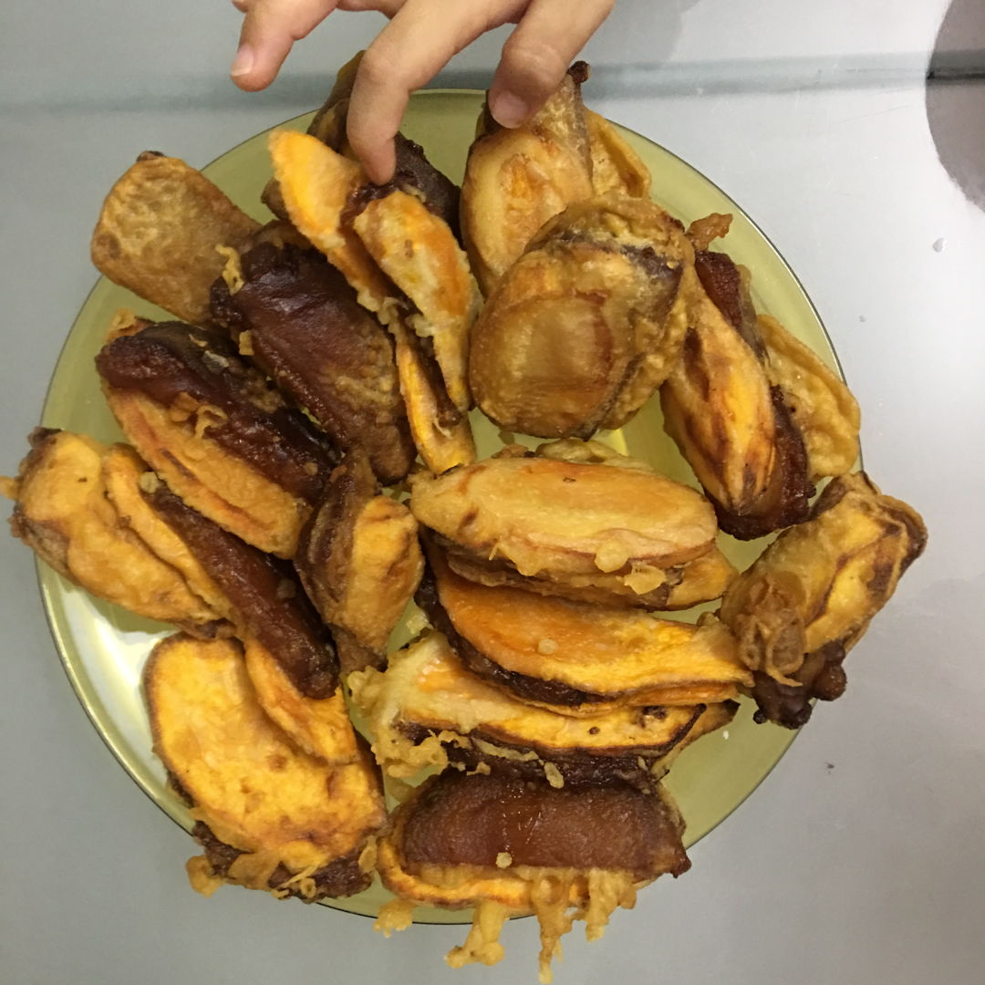 April 17th, 20 - Fried nian gao with sweet potato