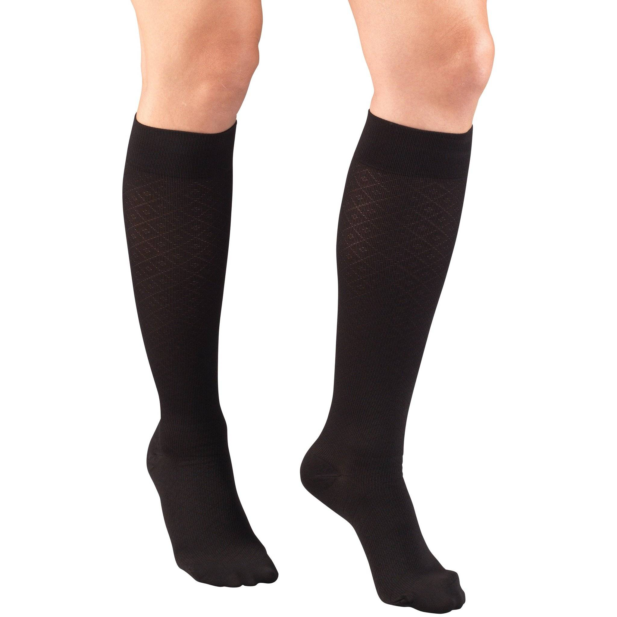 Ladies' Knee High Diamond Pattern Socks