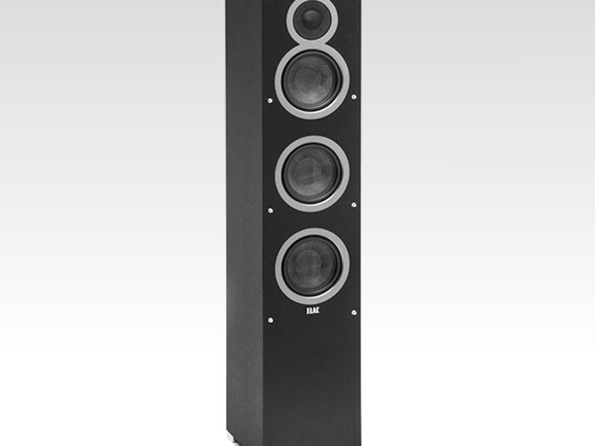 Elac F5 floorstanding speaker designed by Andrew Jones.