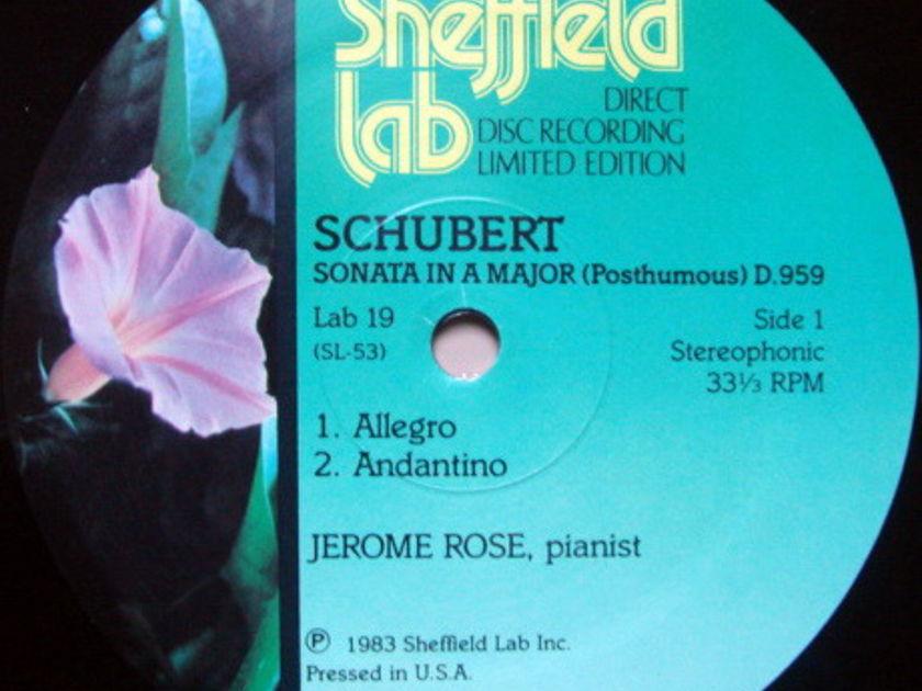 ★Audiophile★ Sheffield Lab / JEROME ROSE, - Schubert Piano Sonata, NM!