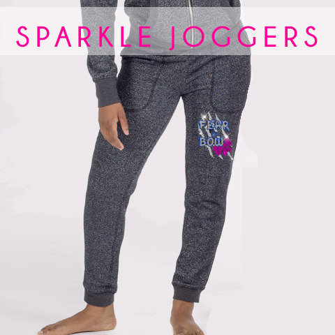 glitterstarz custom bling sparkle jogger pants rhinestone teamwear for cheerleading dance