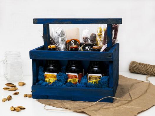 Деревянный ящик под пиво Blue Beer