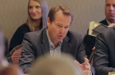 Tony Hallada, CEO of CliftonLarsonAllen Wealth Advisors, speaking at an Aequitas Capital Partners forum.