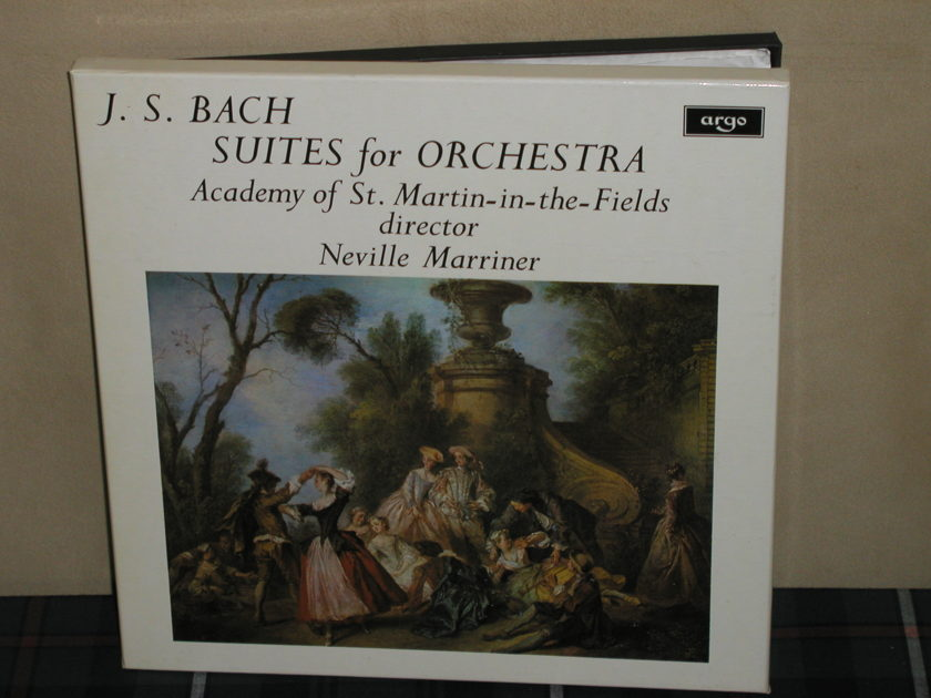 Marriner/AoStMitF - J.S. Bach Suites For Orchestra UK Argo/Decca ZRG-687-8 2LP