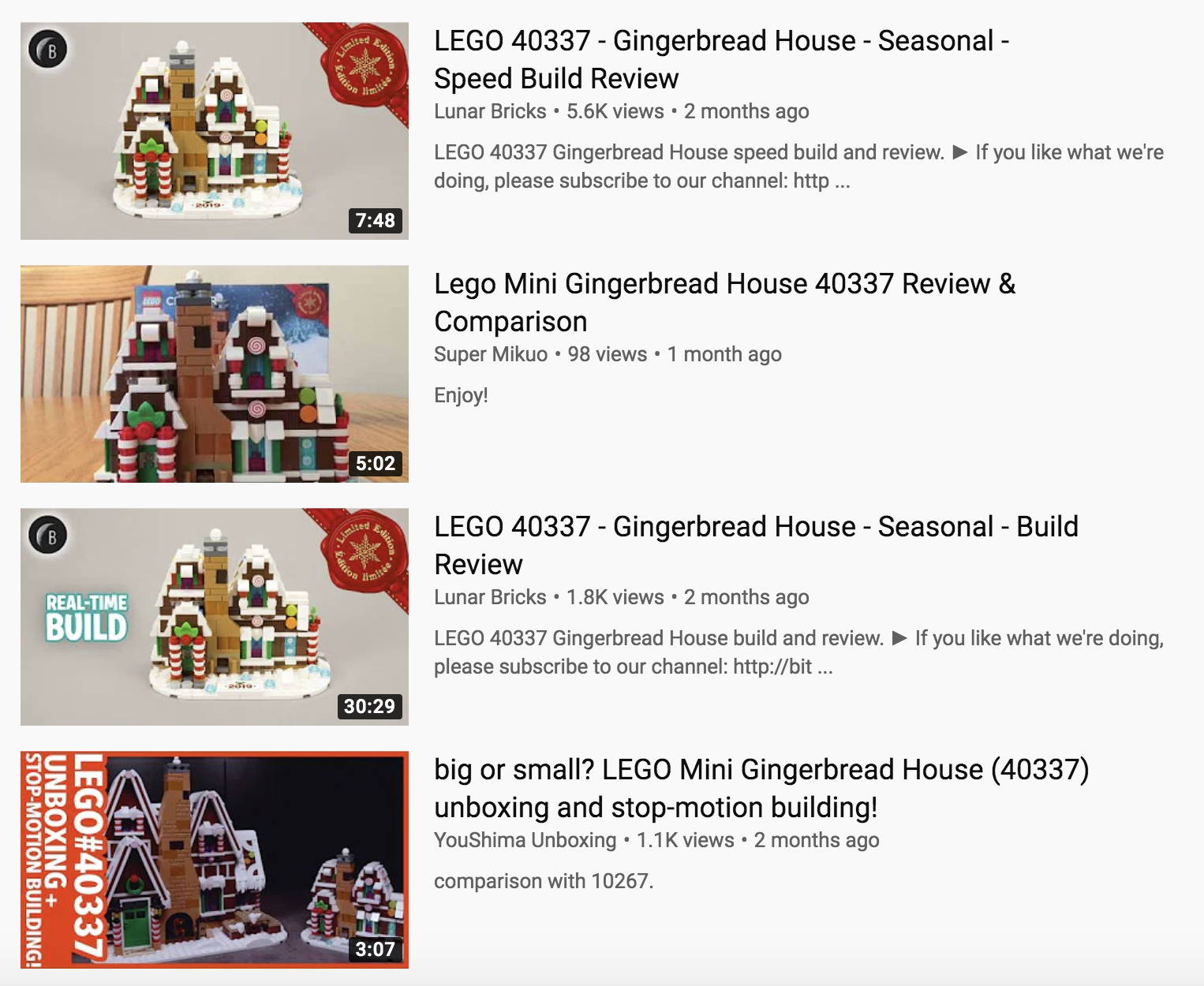 lego 40337 youtube search
