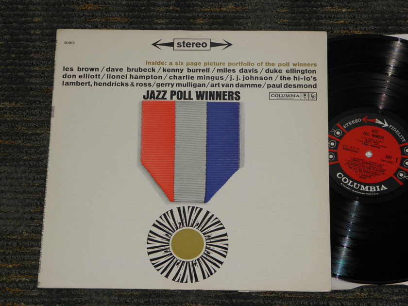 "Miles  Davis/Charlie Mingus/Ellington - ""Jazz Poll Winners"" Columbia CS 8410 6 EYE -1 matrix on both sides"