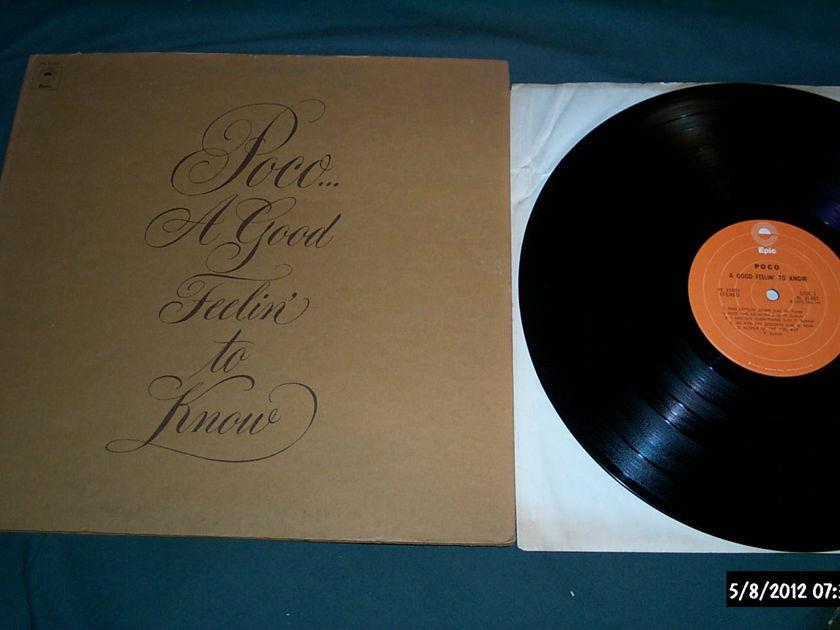 Poco - A Good Feelin' To Know LP NM